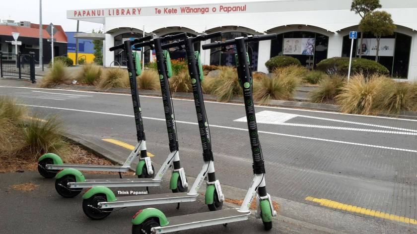 Lime scooters in Papanui