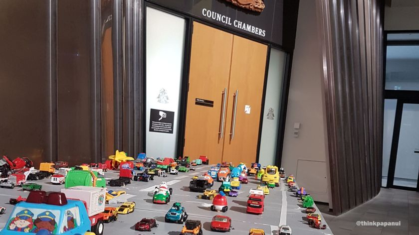 Cars outside Council chambers.jpg
