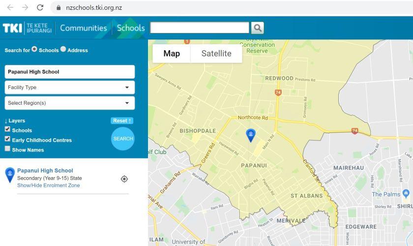 TKI screenshot with PHS 2020 zone